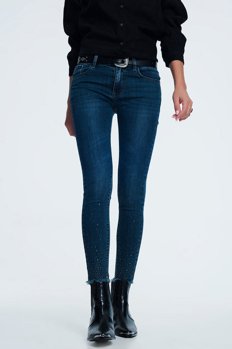 Slim Jean With Rhinestone Detail