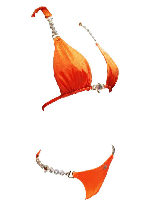 Belle Triangle Top & Skimpy Bottom - Orange