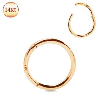 14Kt. Rose Gold Seamless Clicker Ring
