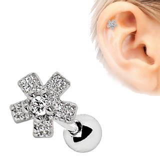 Dazzling Flower Cartilage Earring