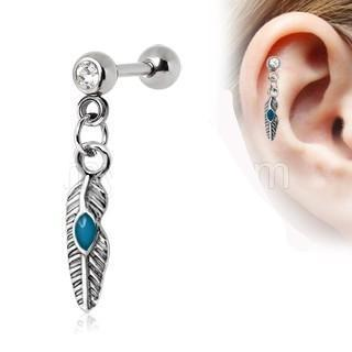 Tribal Feather Cartilage Earring