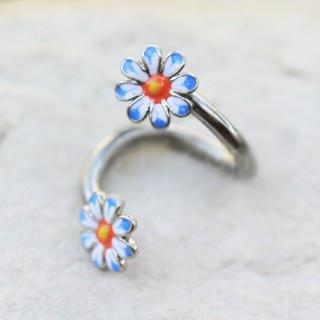 316L Stainless Steel Daisy Flower Cartilage Twist Jewelry