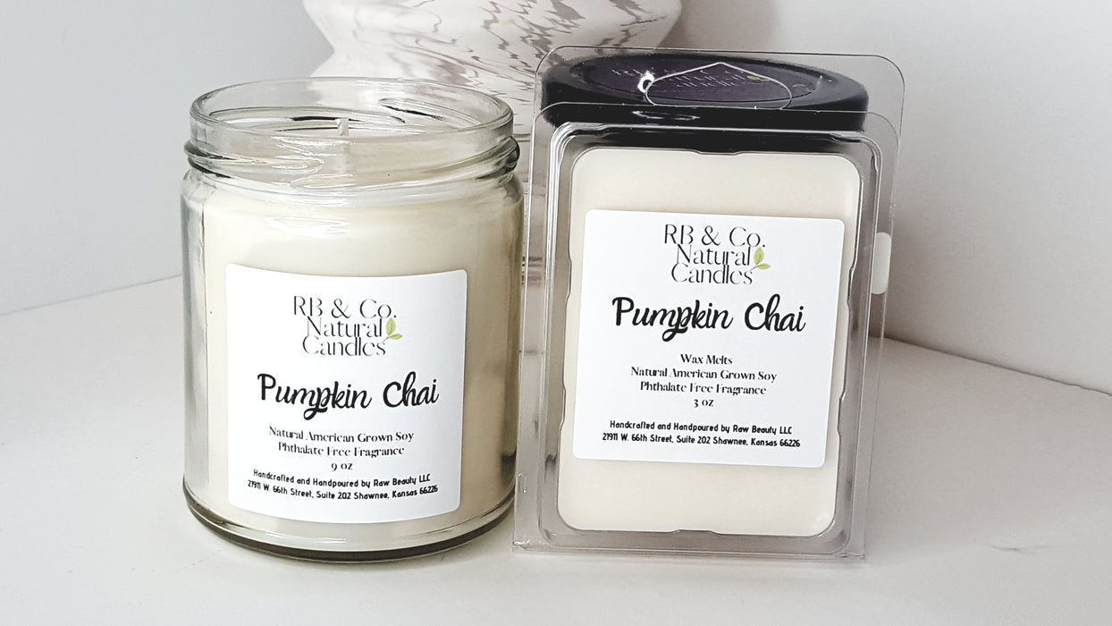 Pumpkin Chai | Natural Soy Candle | Hand-Poured and Hand-Crafted