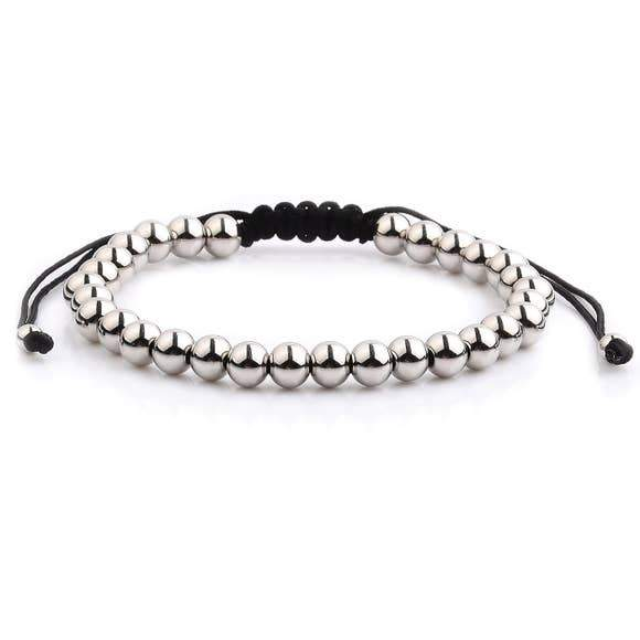 Polished Stainless Steel Men's Adjustable Bracelet