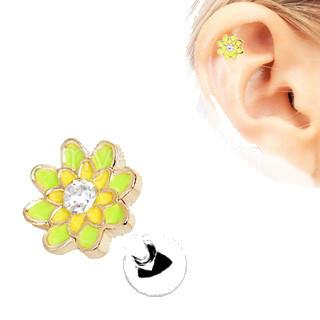 316L Stainless Steel Spring Flower Cartilage Earring