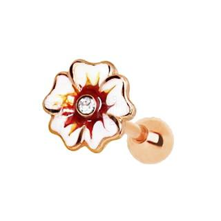 Rose Gold Hawaiian Hibiscus Flower Cartilage Earring