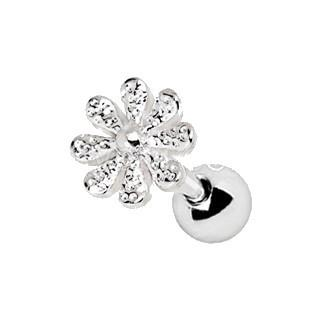 316L Stainless Steel Daisy Flower Cartilage Earring