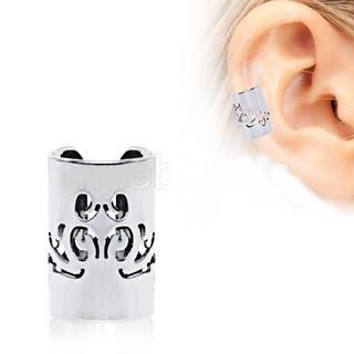 316L Stainless Steel Baroque Patterned Cartilage Ear Cuff