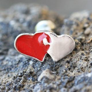 316L Stainless Steel Interlocked Hearts Cartilage Earring