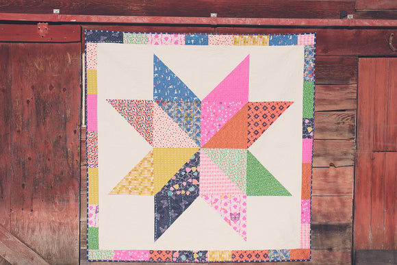 Giant Vintage Star with Cotton + Steel fabrics
