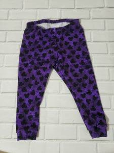 9-12 months  Purple Mouse Ears Baby Leggings