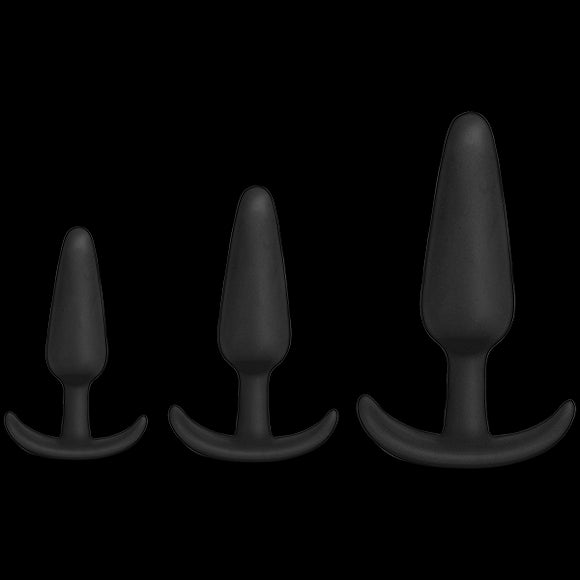 Mood Naughty 1 Trainer 3 Plugs Set Black
