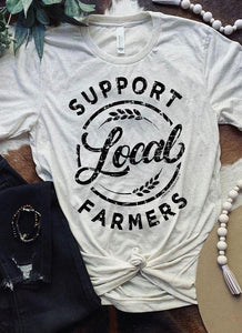 Support Local Farmers Tee / Oatmeal