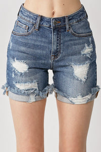 Distressed Cuffed Shorts