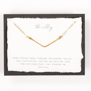 Dear Heart - The Valley Necklace 14k