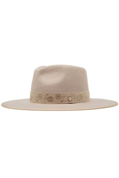 Aubree Embroidered Rancher Hat