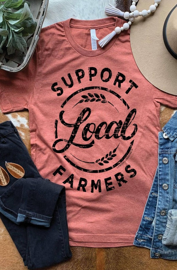 Support Local Farmers Tee / Clay