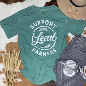 Support Local Farmers Tee / Teal