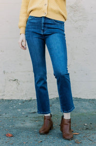 Slim Wide Leg Denim Jeans