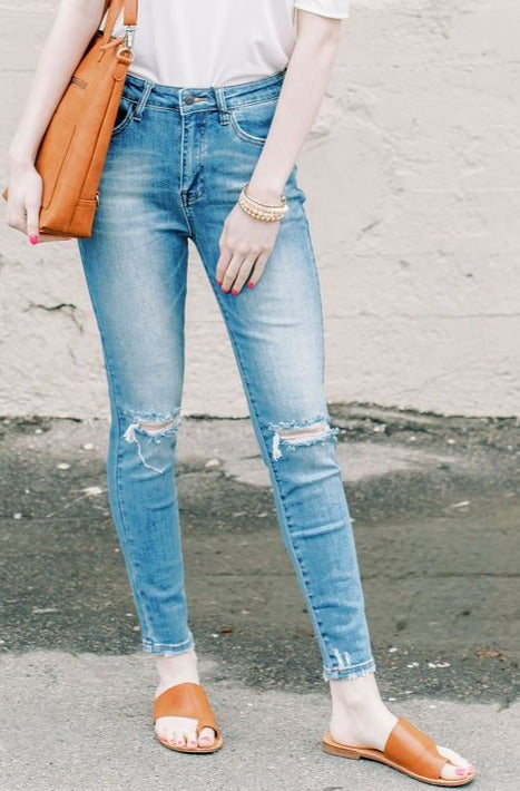 Distressed Knee Skinny