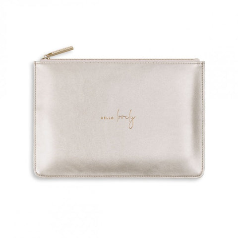 Perfect Pouch / Hello Lovely White