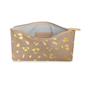 Perfect Pouch / Leopard Taupe