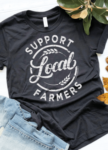 Support Local Farmers Tee / Black