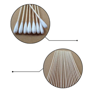 100 Long Handle Cotton Swab