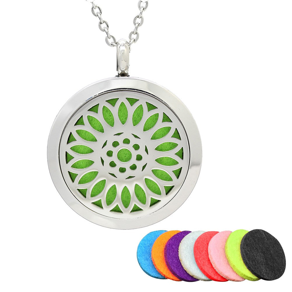 Aromatherapy Necklace Round Locket