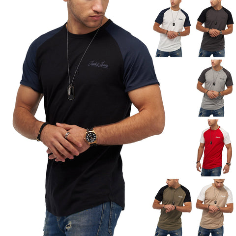 Jack & Jones Herren T-Shirt Kurzarmshirt O-Neck Shirt