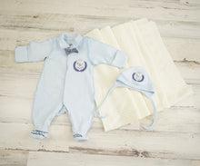 Load image into Gallery viewer, Newborn Boy Outfit With a Hat/Coming Home Boys Outfit