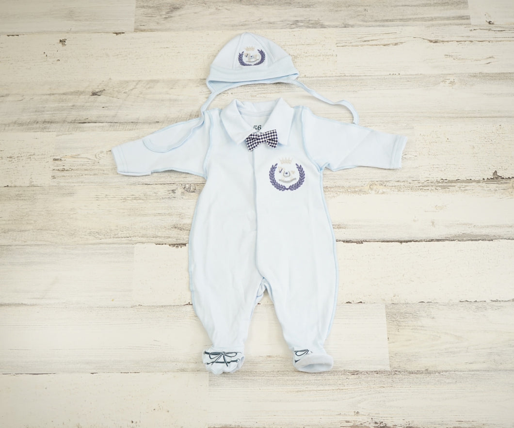 Newborn Boy Outfit With a Hat/Coming Home Boys Outfit