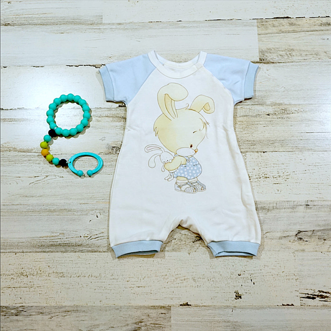 Short Sleeve Rabbit Boys Romper