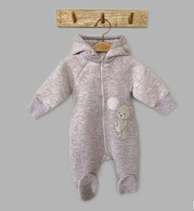 Little Bear Boy Thermal Jumpsuit With Removable Hood