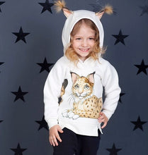Load image into Gallery viewer, lynx Girls Thermal Hoodie