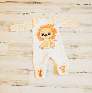 Little Lion Footie Ruffled Snap One Piece Jumpsuit