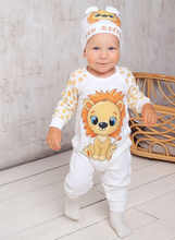 Load image into Gallery viewer, Little Lion Footie Ruffled Snap One Piece Jumpsuit