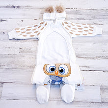 Load image into Gallery viewer, Little Owl Boy Thermal Jumpsuit