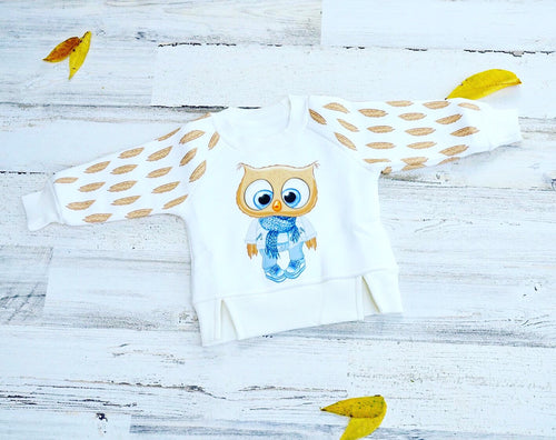 Little Owl Boy Thermal Pullover