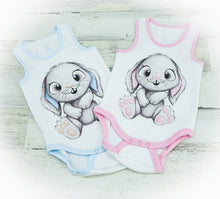 Load image into Gallery viewer, Boy & Girl Bunny Tank Top Onesie
