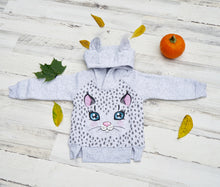 Load image into Gallery viewer, Little Kitten Girl Thermal Hoodie