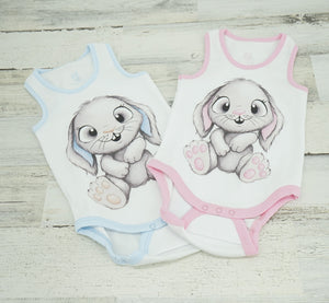 Boy & Girl Bunny Tank Top Onesie