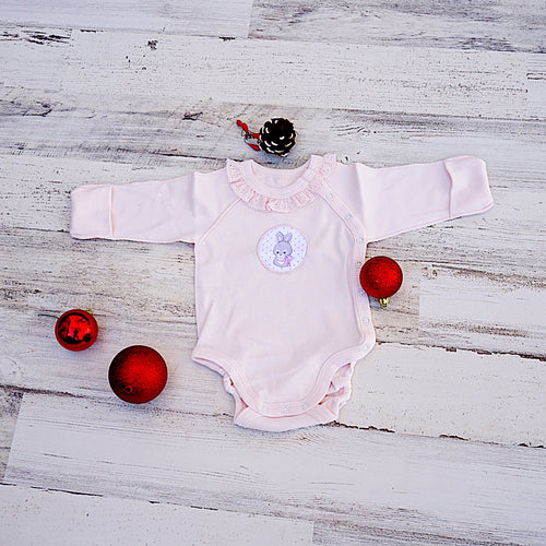 Pink Bunny Long Sleeve Bodysuit