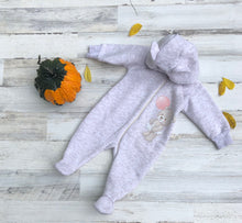 Load image into Gallery viewer, Little Girl Bear Thermal Jumpsuit With a Removable Hood