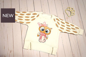 Little Owl Girls Thermal Pullover 6-9 Months Hoodie