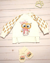 Load image into Gallery viewer, Little Owl Girls Thermal Pullover Hoodie