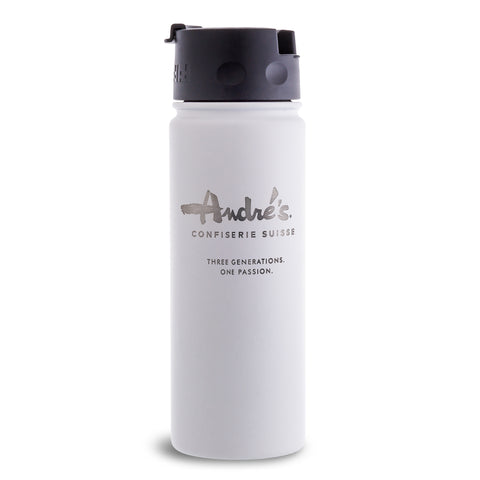 20 oz White Insulated Bottle