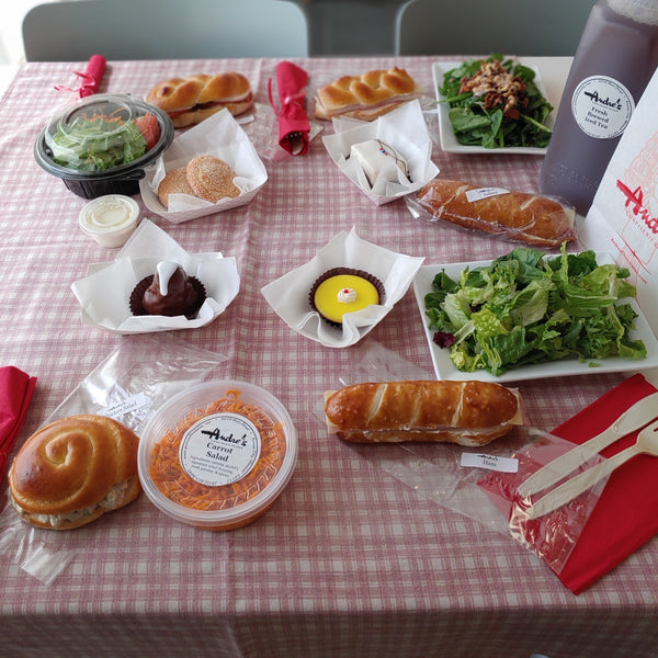 Picnic Pack for 4 $50.00 (Sandwich, Salad + Desserts for 4) Pick up at 5018 Main St.
