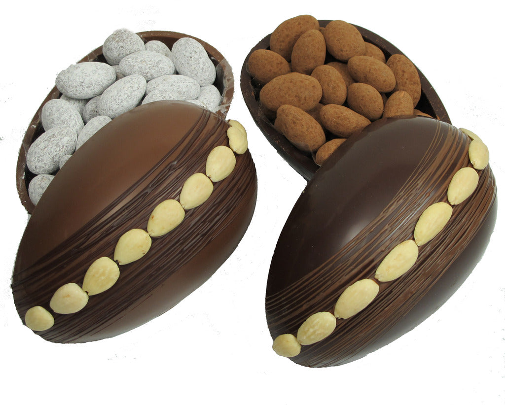 Chocolate Egg with Chocolate Almonds