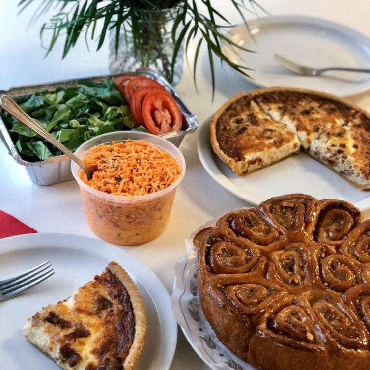 Family Brunch (Quiche, Coffee Cake + Salads for 4) Pick up at 4929 W 119 St.